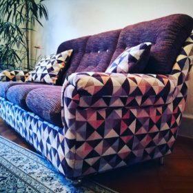 Polstern Luzern, aus alt wird neu, Sofa mit Stoff von Osborne & Little
